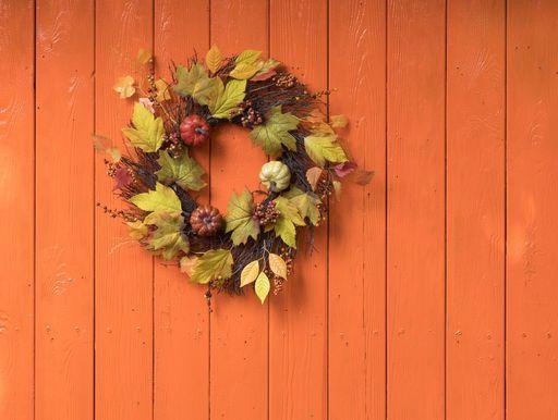 25 coronas de otoño de bricolaje para decorar la puerta de entrada este otoño