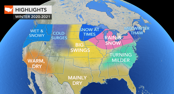 AccuWeather acaba de publicar su pronóstico del tiempo para el invierno 2020-2021