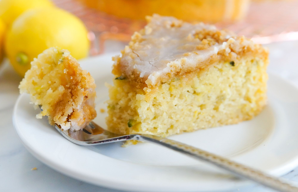 Лимонена тиквичка кафе торта