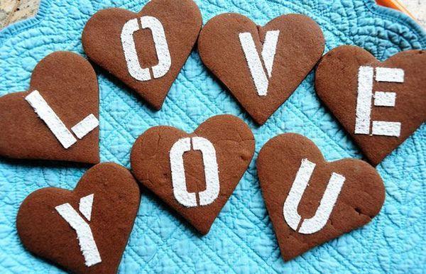 Galletas de chocolate de San Valentín