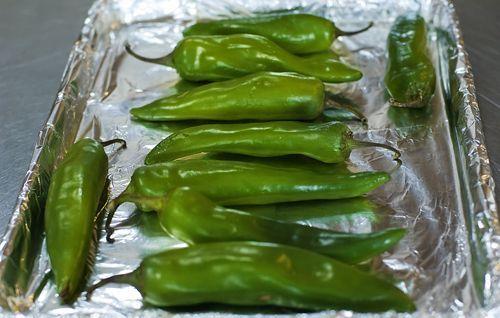 Cómo asar chiles verdes