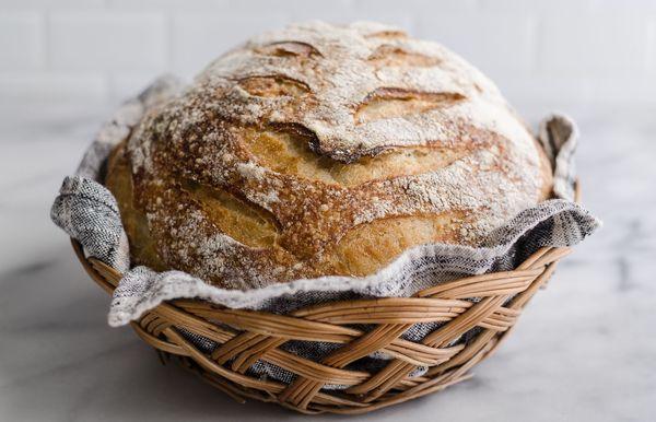 Cómo hacer pan de masa fermentada artesanal
