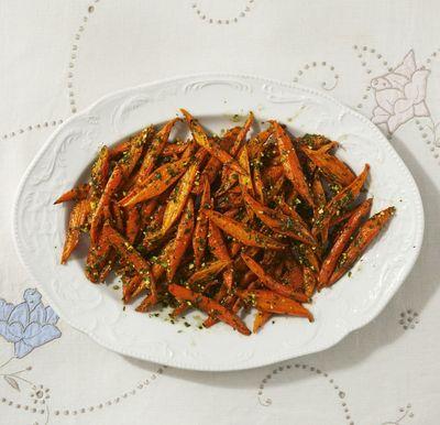 Zanahorias Asadas con Pesto de Primavera