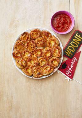 Rollos de pizza de pepperoni