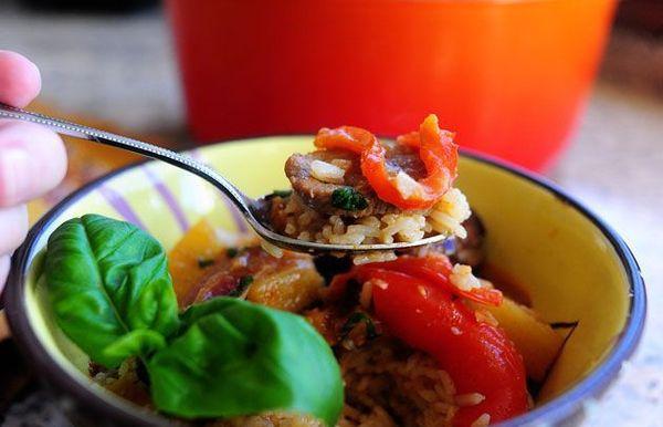 Curry de pato rojo
