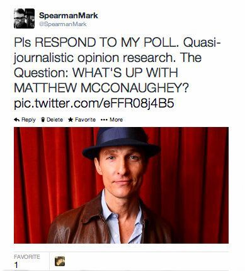 ¿Qué pasa con Matthew McConaughey?