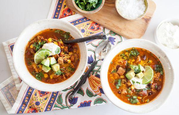 दक्षिण पश्चिम चिकन सूप