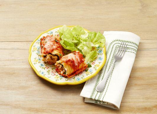 Rouleaux de lasagne aux aubergines