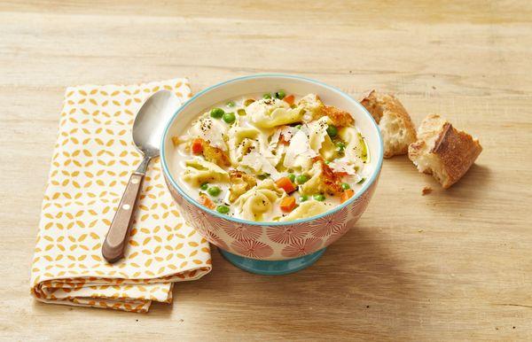 मलाईदार टोर्टेलिनी सूप